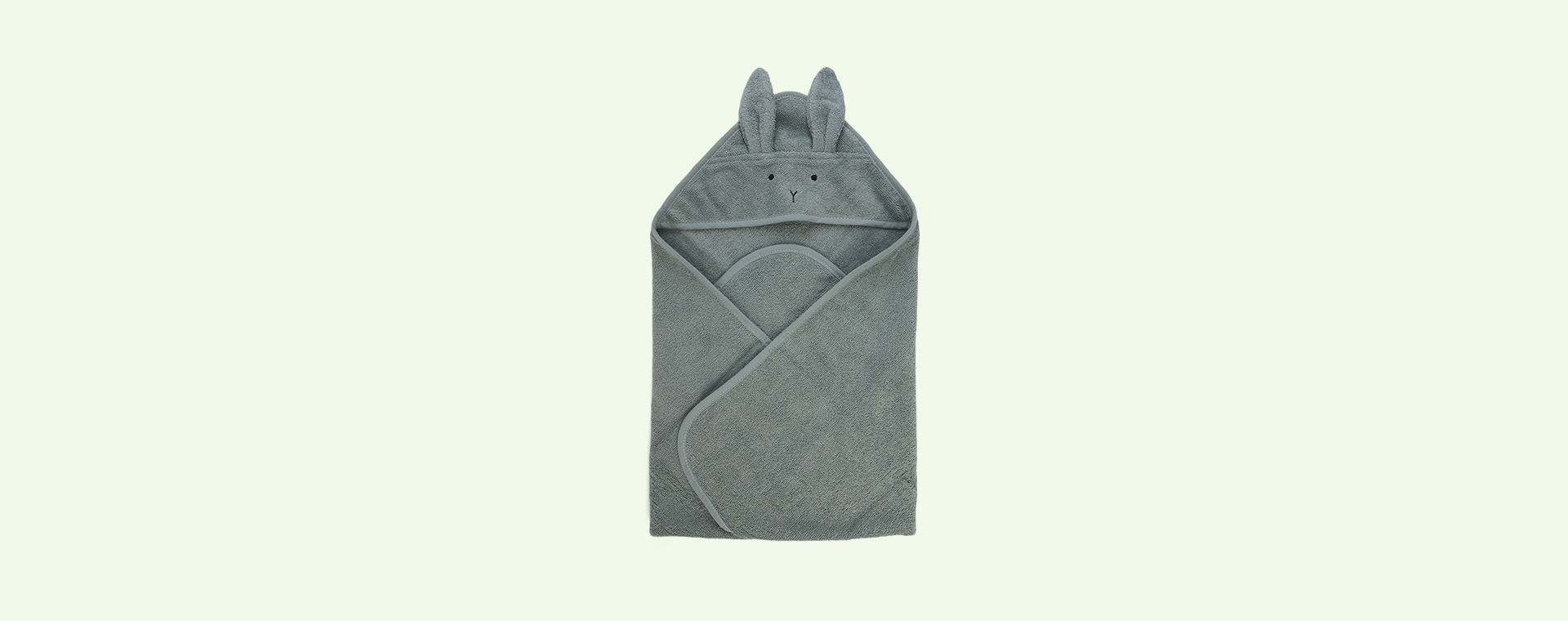 Rabbit peppermint Liewood Albert Hooded Towel