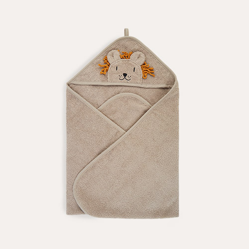 Lion Stone Beige Liewood Albert Hooded Towel