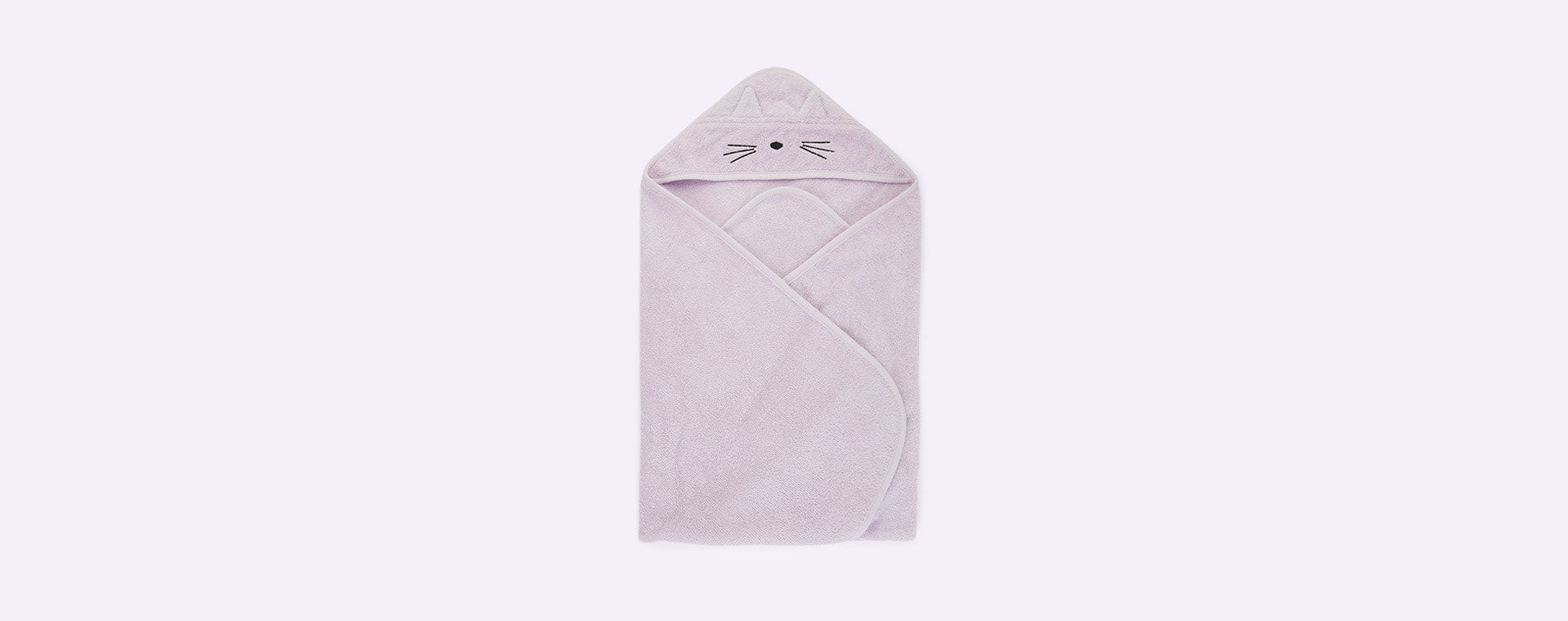 Cat Light Lavender Liewood Albert Hooded Towel