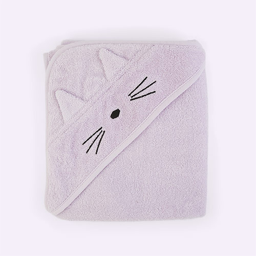 Cat Light Lavender Liewood Albert Hooded Towel