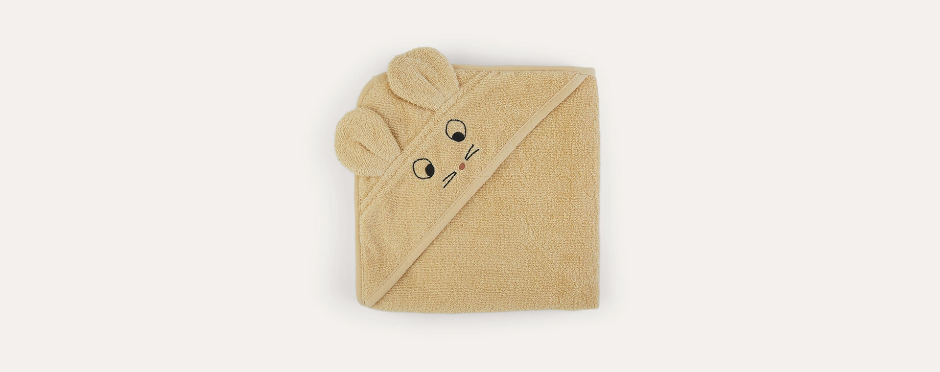 Mouse Wheat Yellow Liewood Albert Hooded Towel
