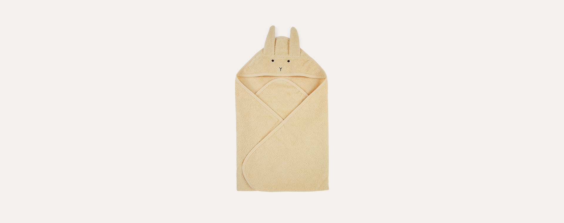 Rabbit Smoothie Yellow Liewood Albert Hooded Towel