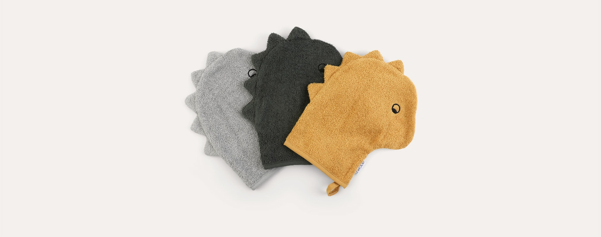 Dino Mix Liewood 3-Pack Sylvester Washcloth