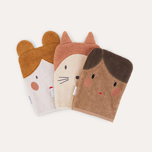 Doll/Sandy Mix Liewood 3-Pack Sylvester Washcloth