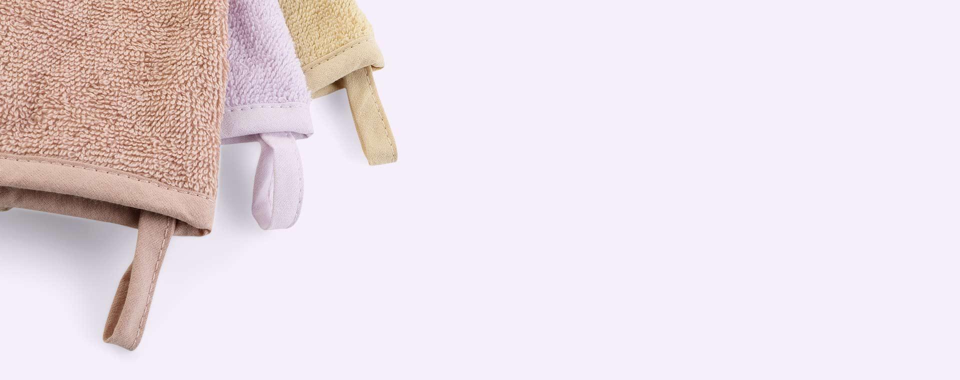 Mouse/Light Lavender Multi Mix Liewood 3-Pack Sylvester Washcloth