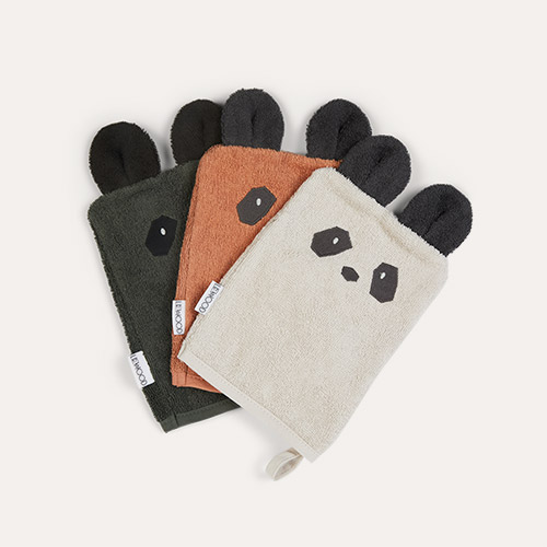Panda Mix Liewood Sylvester Washcloth 3 Pack