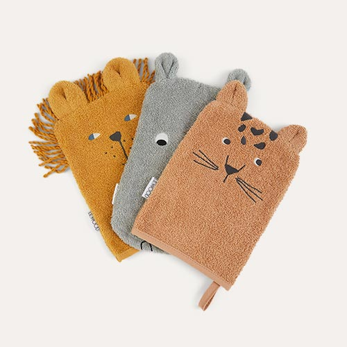 Safari mix Liewood 3-Pack Sylvester Washcloth