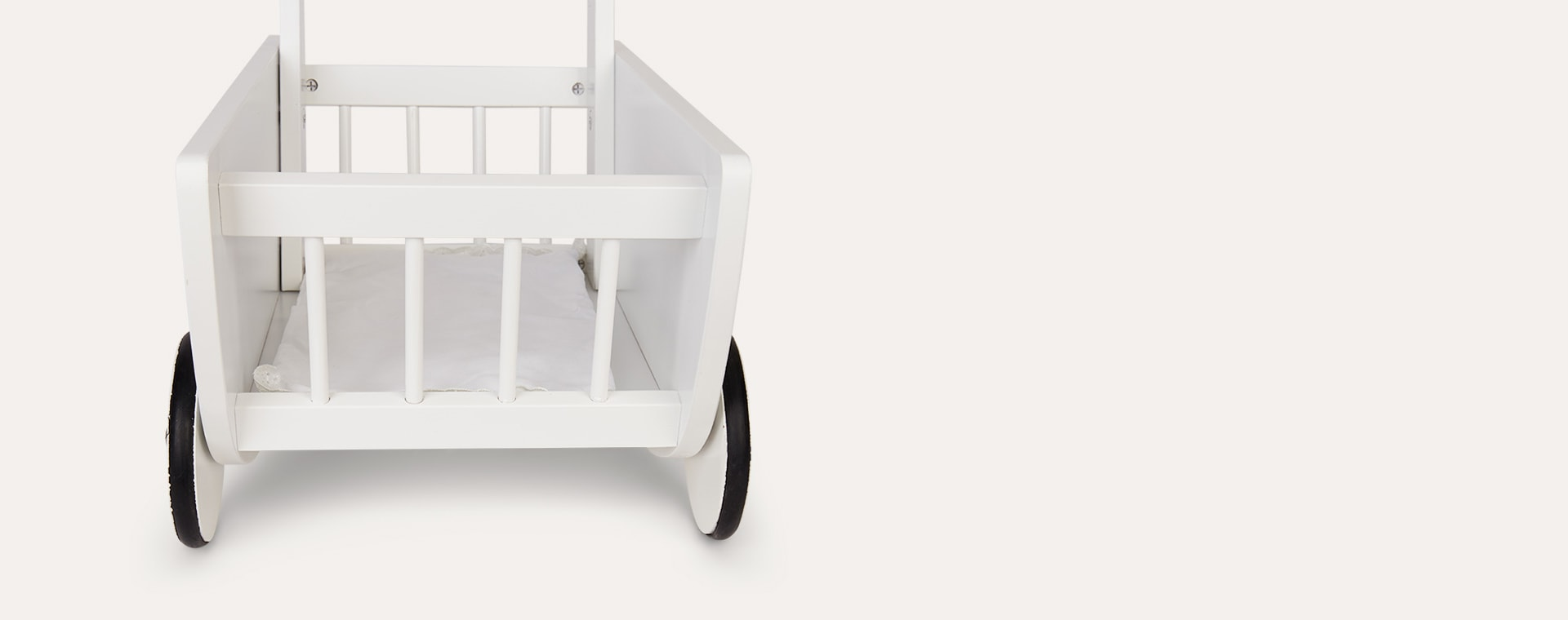 White Jabadabado Doll Wagon