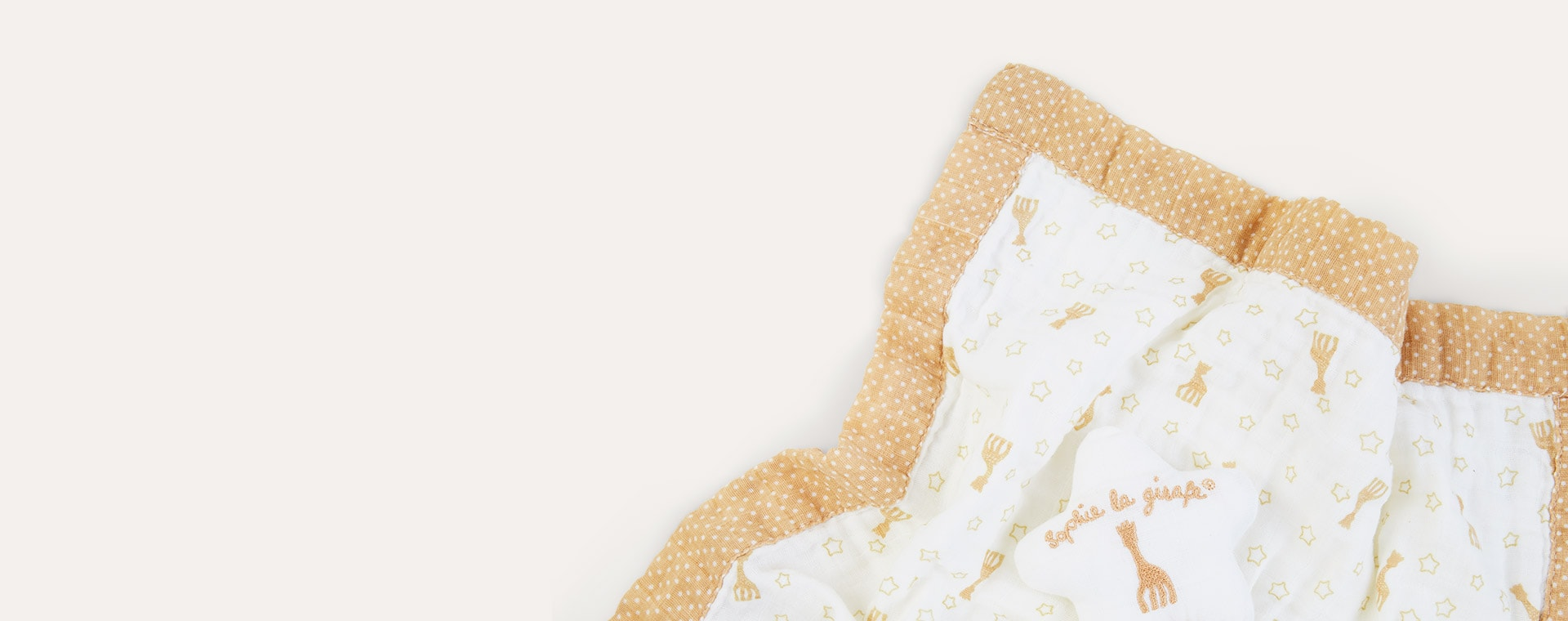 Neutral Sophie la girafe Comforter With Pacifier Holder