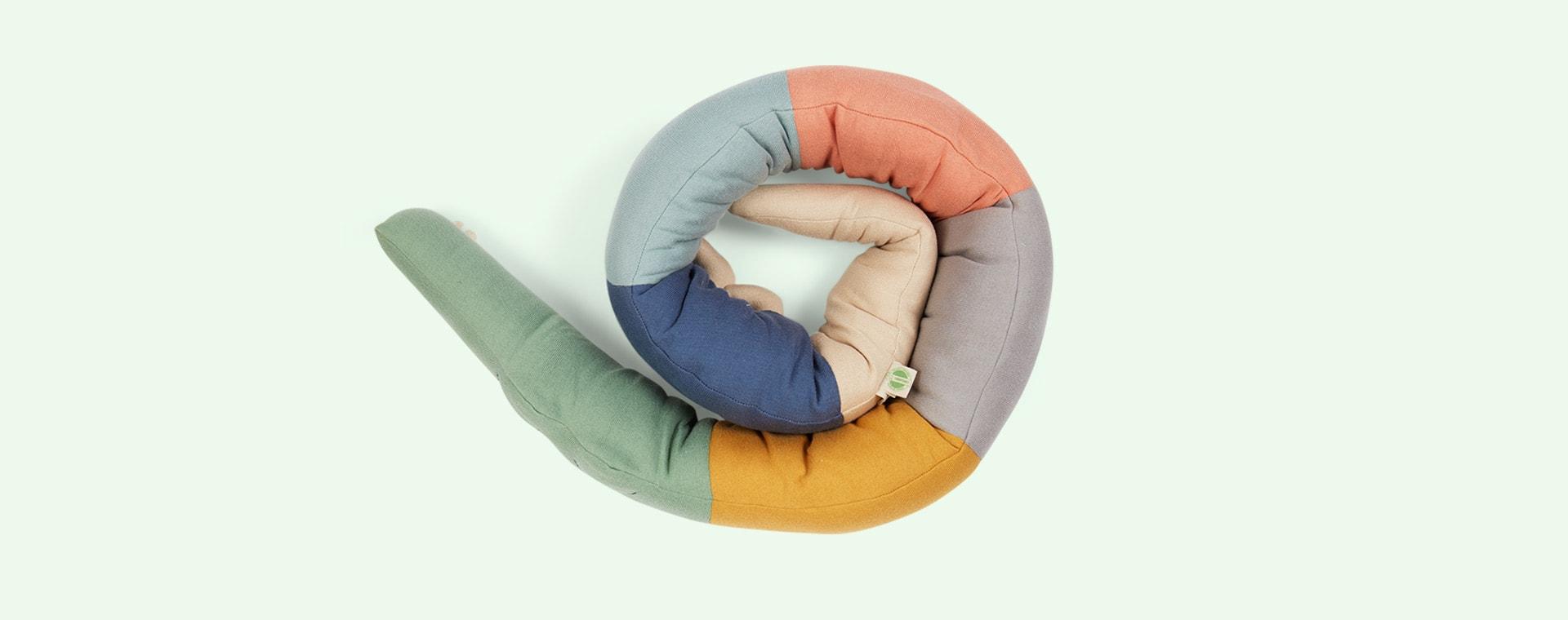 Multi Sebra Sleepy Croc Knitted Cushion