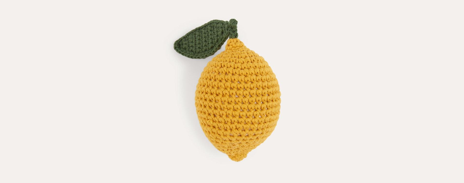 Lemon Sebra Crochet Rattle