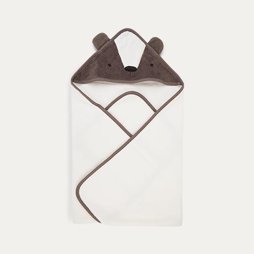 Milo the Bear Sebra Terry Hooded Towel