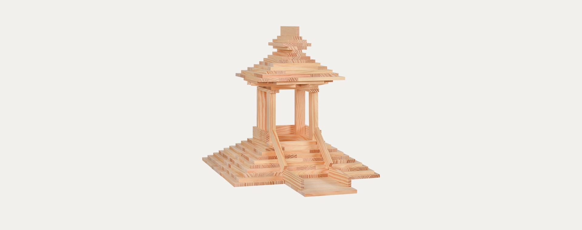 Neutral kapla Building Set - 280 Pieces Box