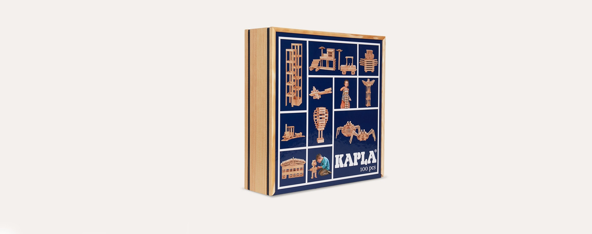 Neutral kapla Building Set - 100 Case