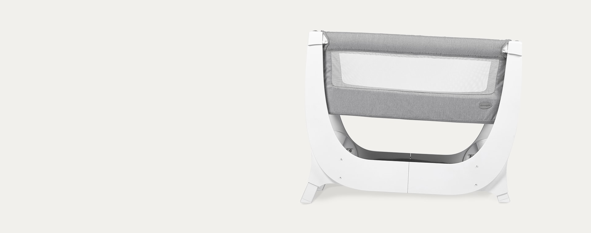White Shnuggle Air Bedside Crib