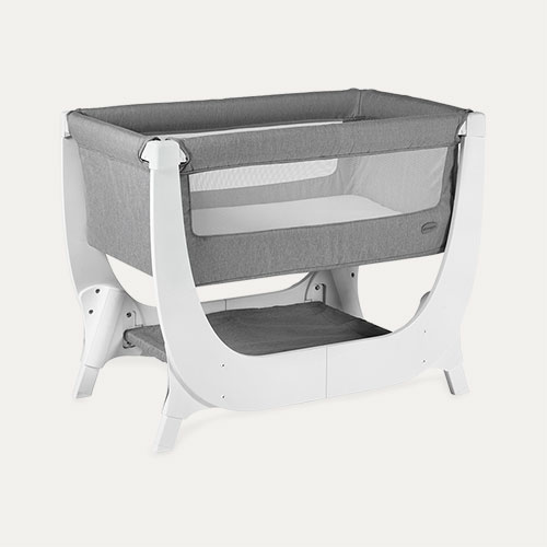 White Shnuggle Air Bedside Crib