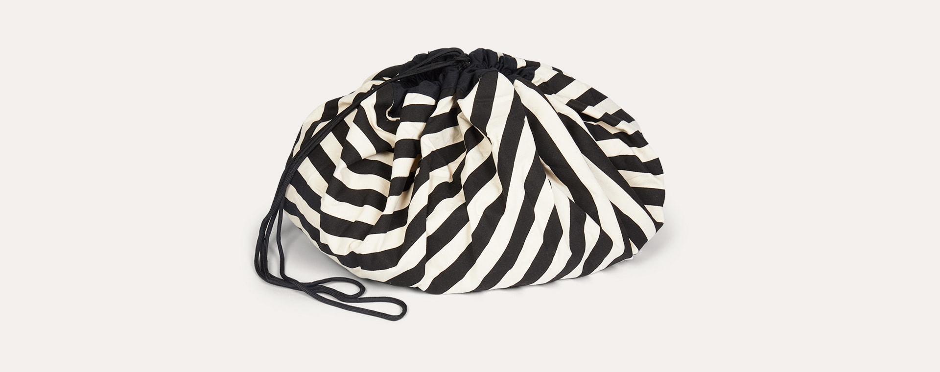 Black Stripe Play & Go Storage Bag