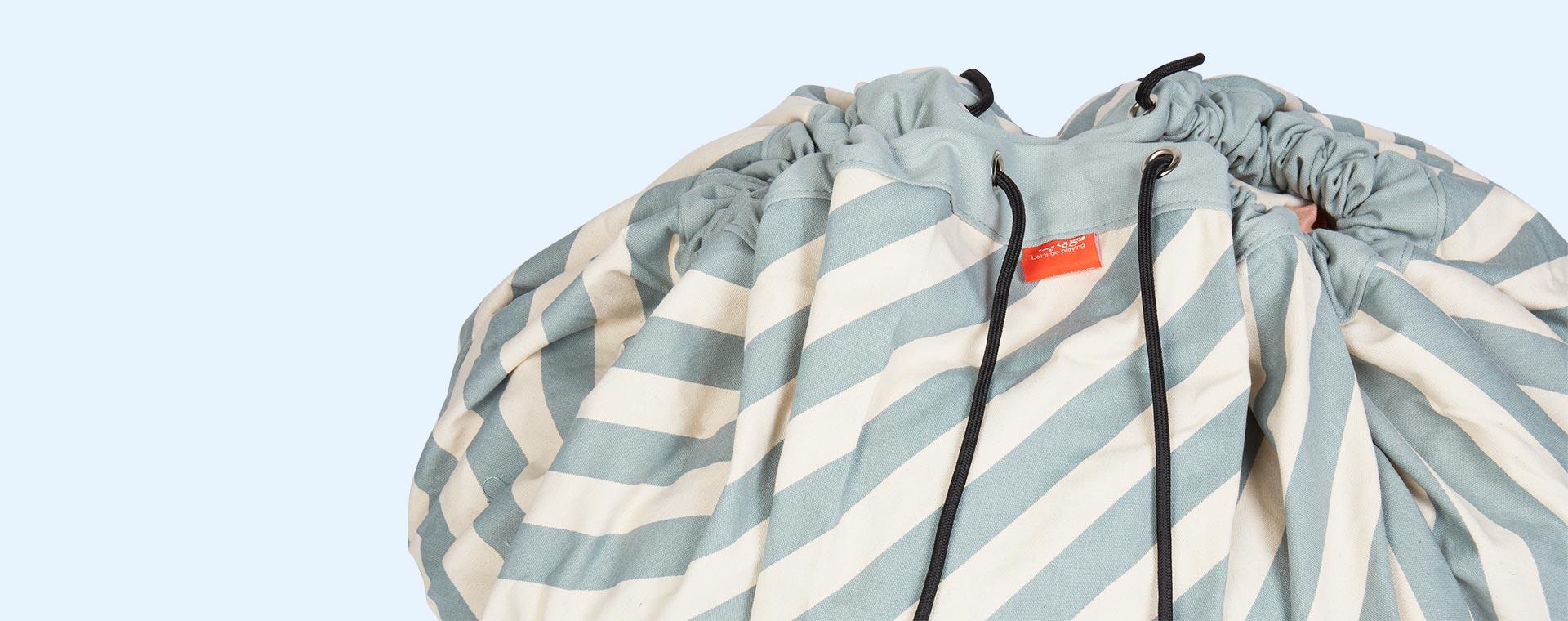Blue Stripe Play & Go Storage Bag