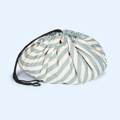 Blue Stripe Play & Go Storage Bag