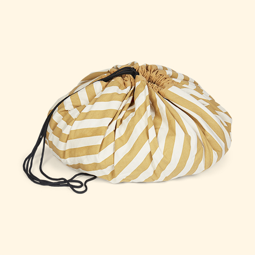 Mustard Stripe Play & Go Storage Bag
