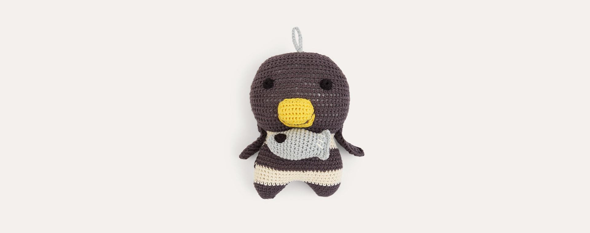Grey Franck & Fischer Molly Penguin Musical Toy