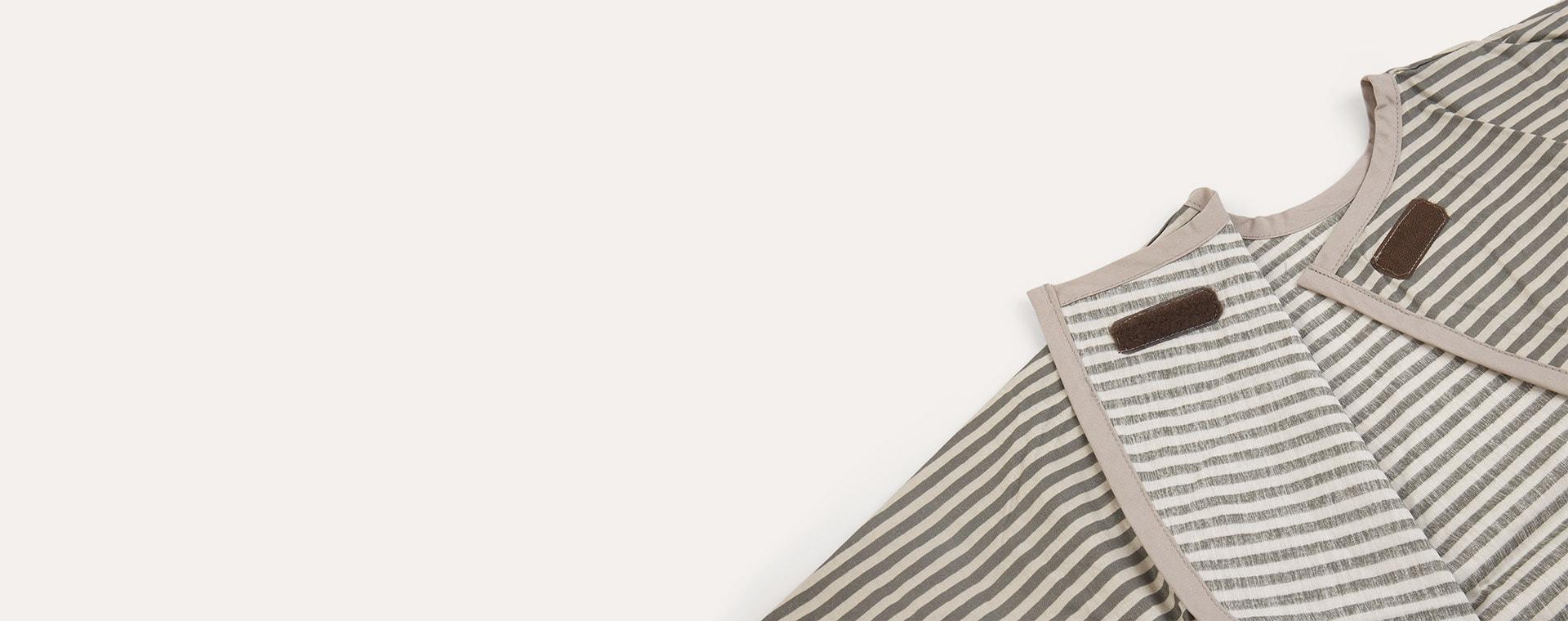 Grey Stripe Franck & Fischer Long Sleeve Apron