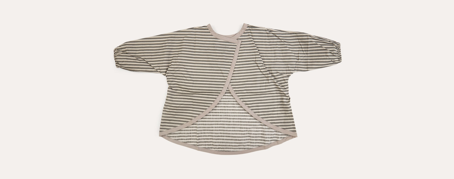 Grey Stripe Franck & Fischer Long Sleeve Apron