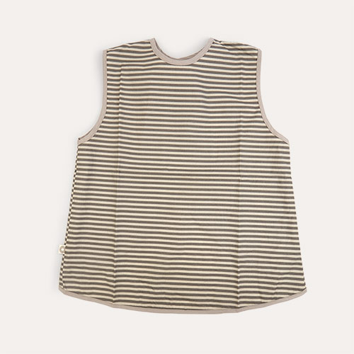 Grey Stripe Franck & Fischer Short Sleeve Apron
