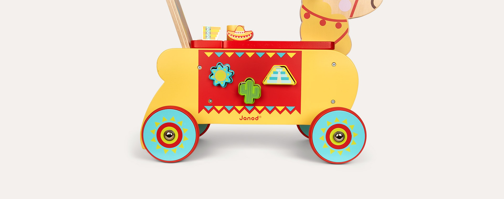 Yellow Janod Llama Ride-On