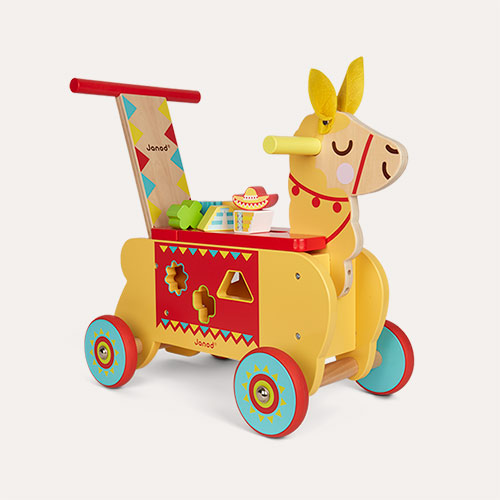 Yellow Janod Llama Ride-On