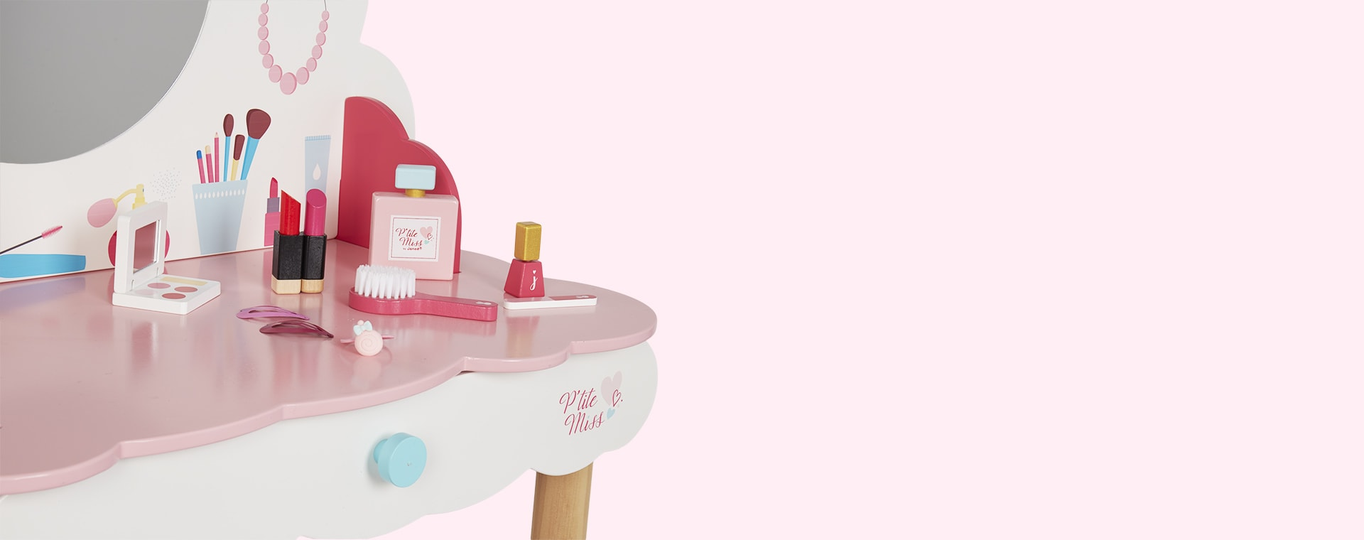 Pink Janod P'tite Miss Dressing Table