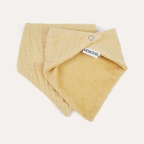 Smoothie Yellow Liewood Andrea Bib 2 Pack