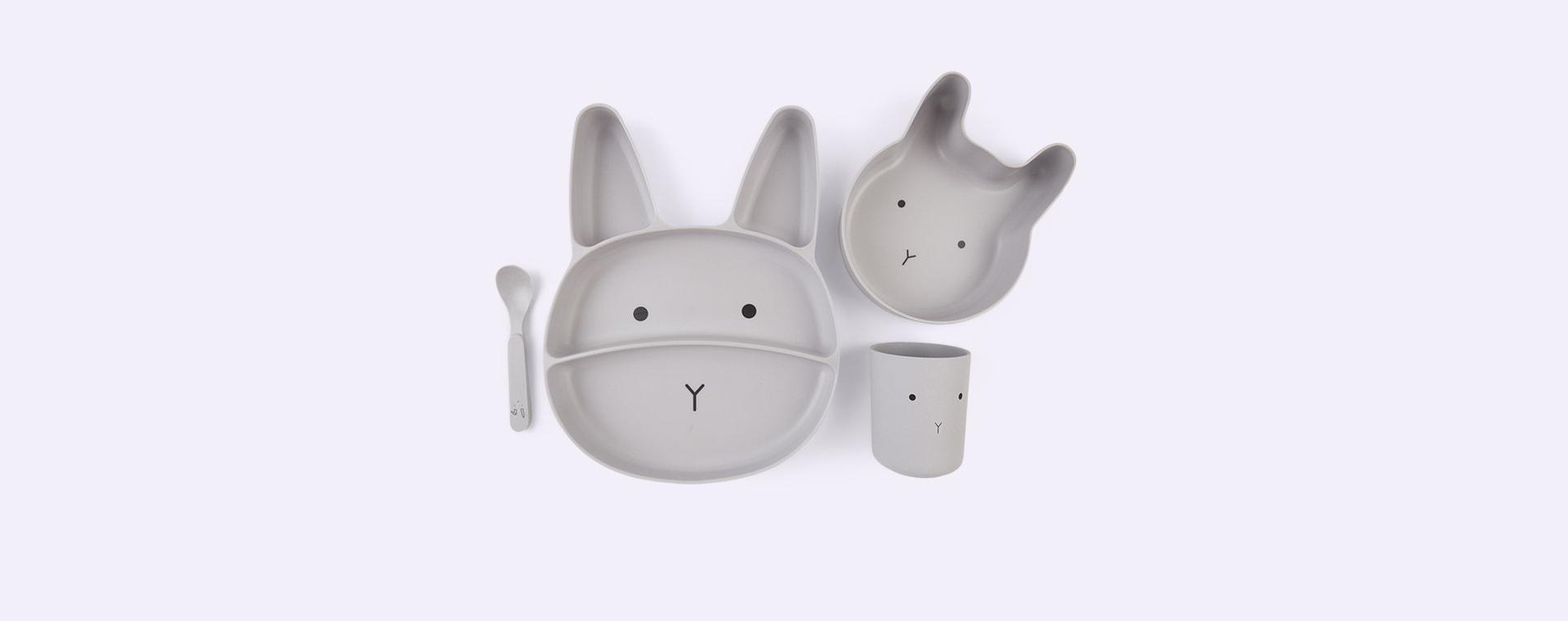 Rabbit Dumbo Grey Liewood Jules Junior Bamboo Set