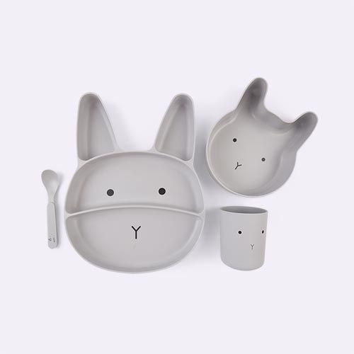 Rabbit Dumbo Grey Liewood Jules Junior Bamboo Set