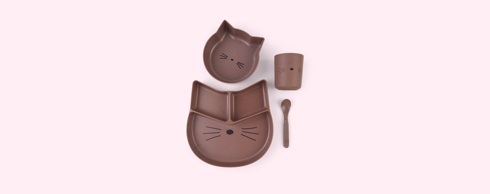 Cat Dark Rose Liewood Jules Junior Bamboo Set