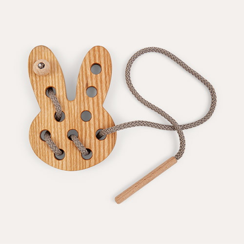 Bunny Blossom & Bear Wooden Lacing Toy