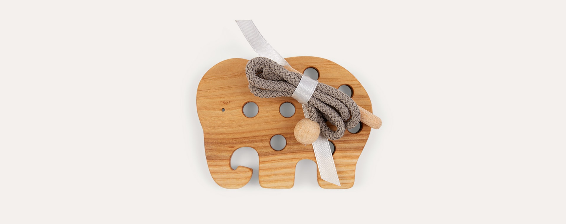 Elephant Blossom & Bear Wooden Lacing Toy