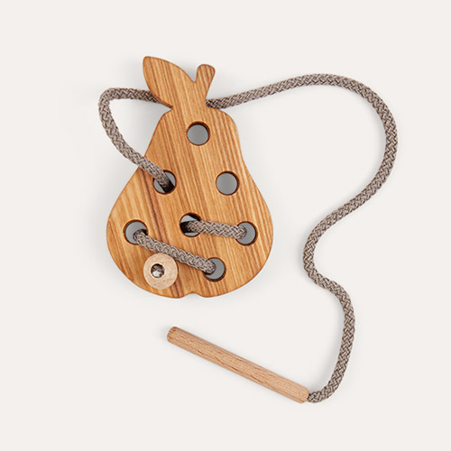 Pear Blossom & Bear Wooden Lacing Toy