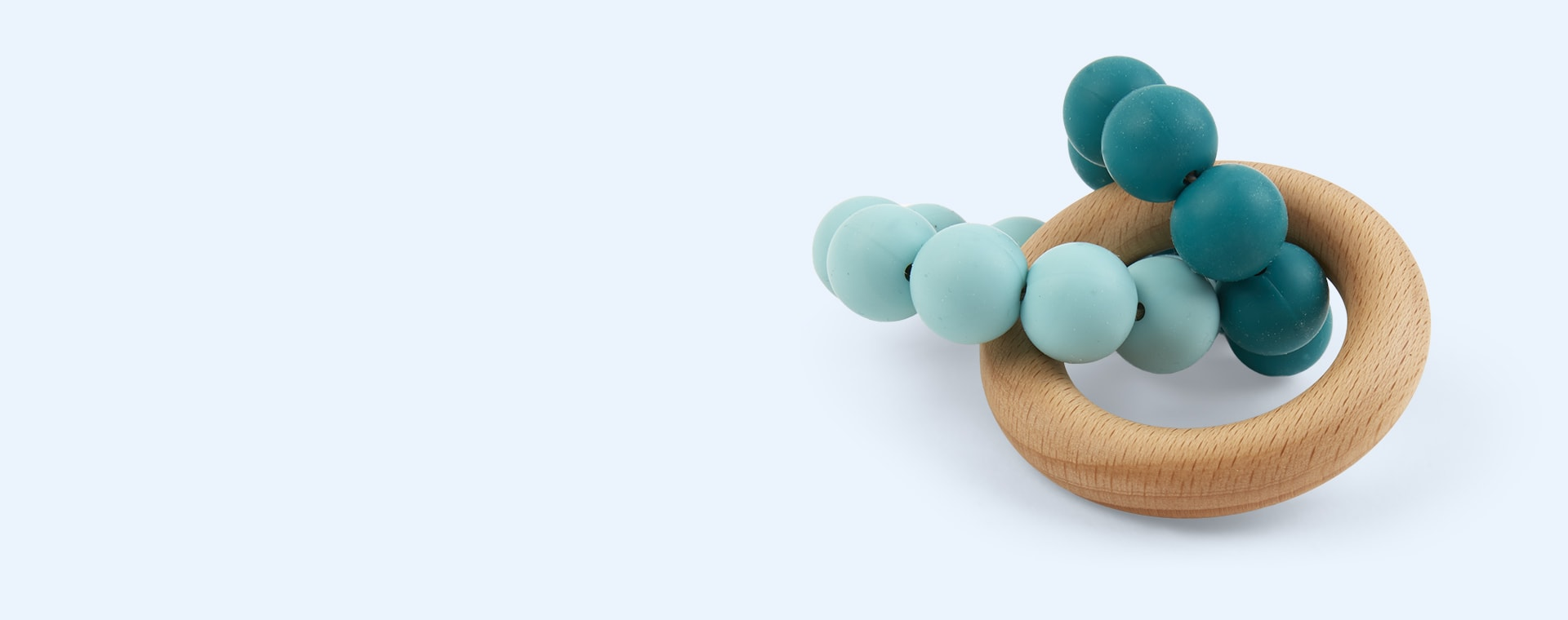 Teal Blossom & Bear Ombre Teether