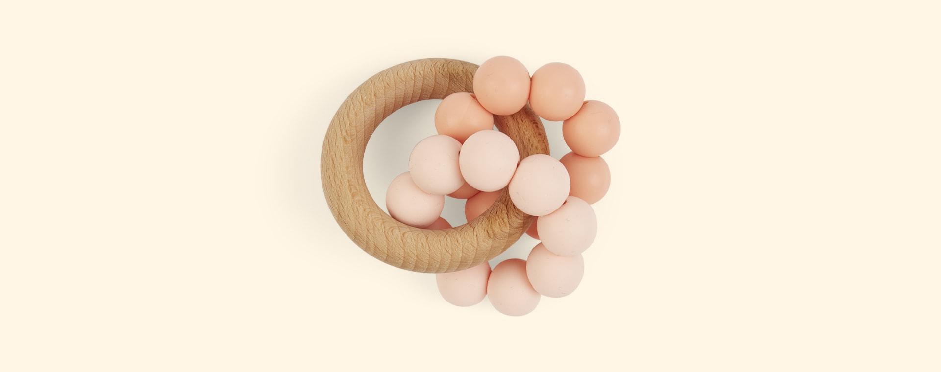 Peach Blossom & Bear Ombre Teether