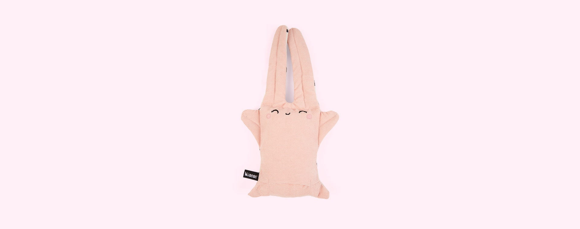 Pink Bunny Rabbit Minene Reversible Soft Toy