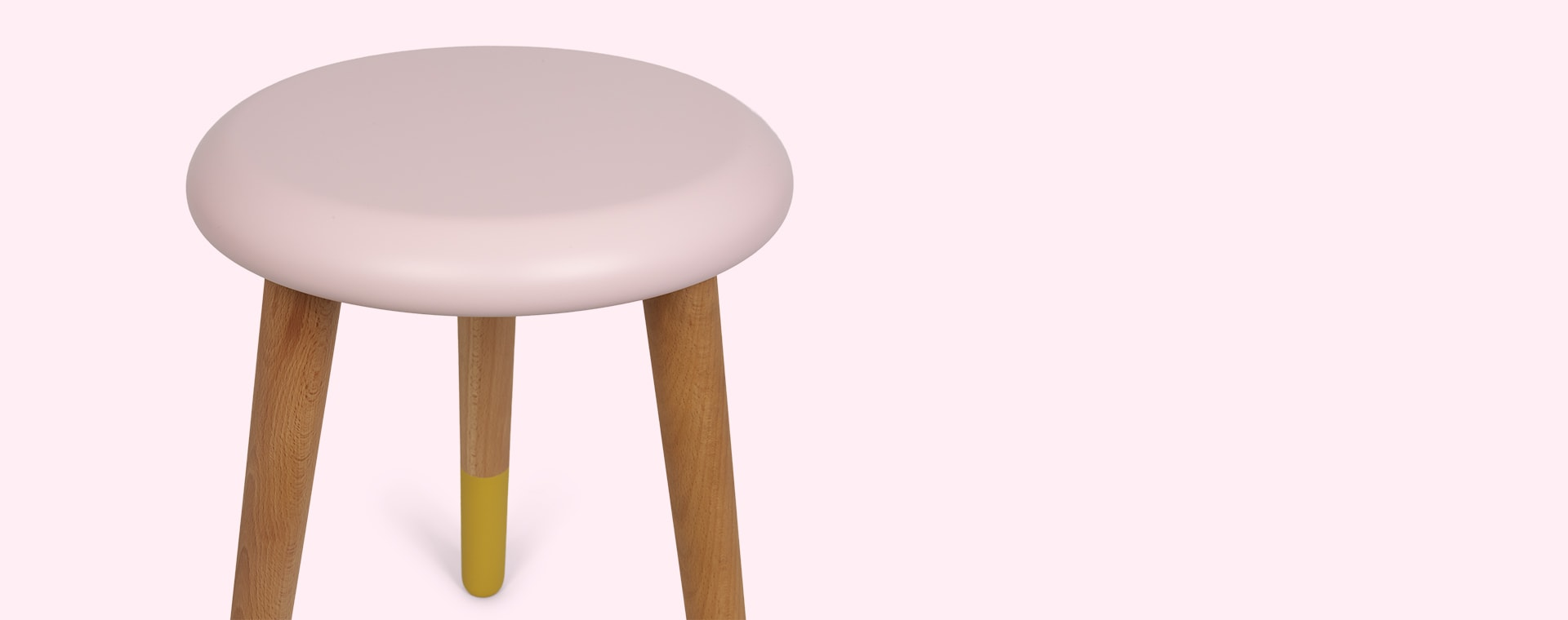 Light Pink/Lemon Yellow Rose In April Stool