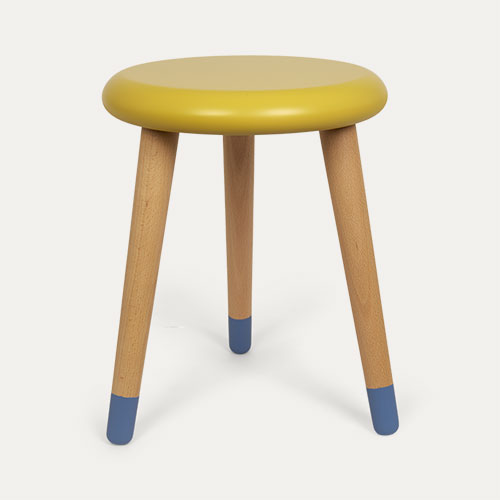 Lemon Yellow/Paradise Blue Rose In April Stool