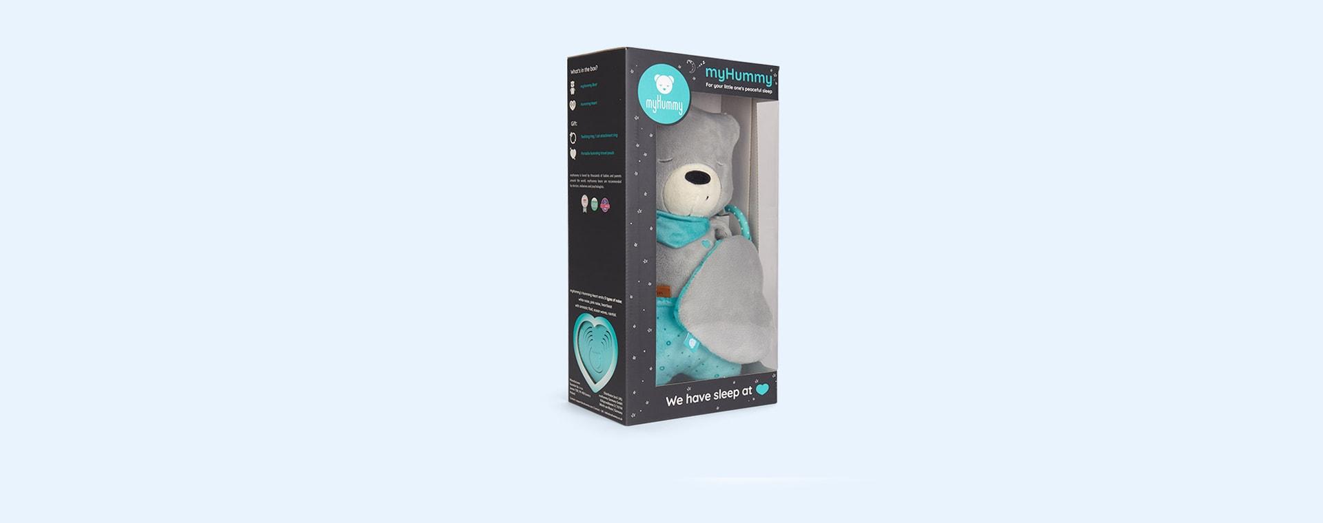 Grey myHummy Leon With Sleep Sensor Heart