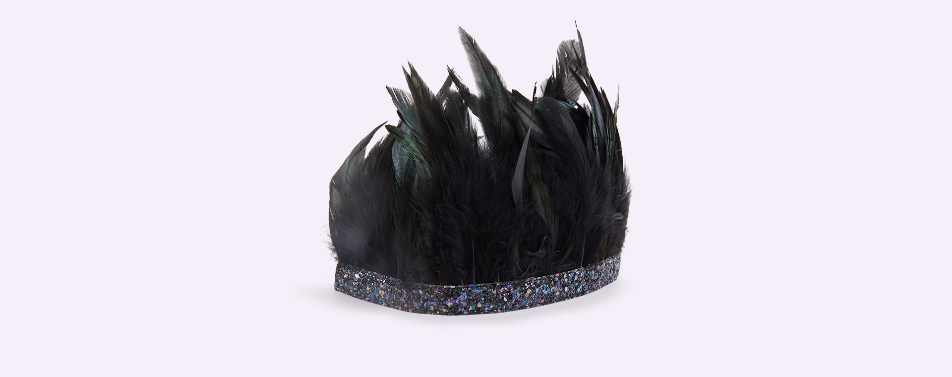 Black Meri Meri Feather Crown