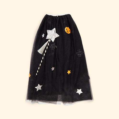 Black Meri Meri Halloween Cape Dress Up