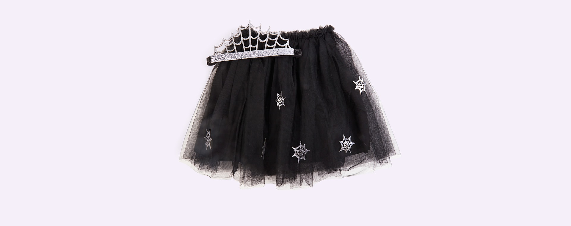Black Meri Meri Cobweb Tutu And Headband