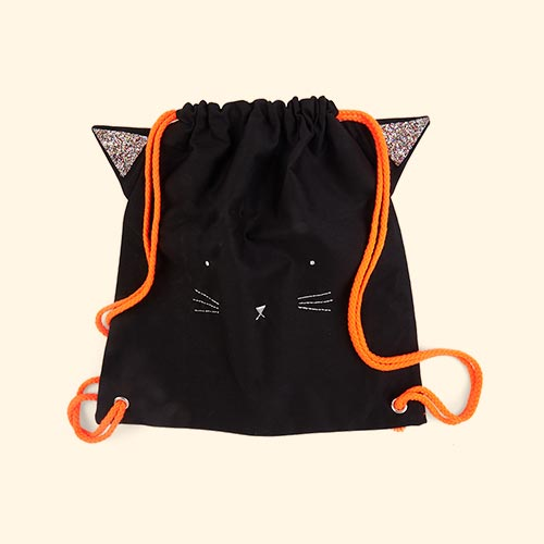 Black Meri Meri Spooky Black Cat Backpack