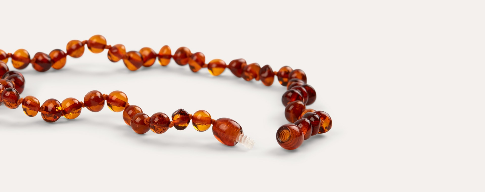 Honey Nibbling Amber Teething Necklace