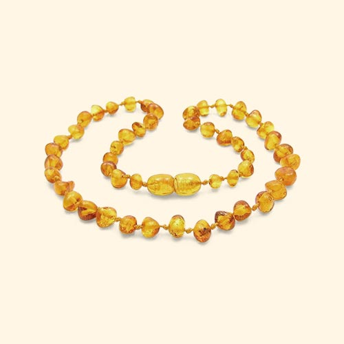 Lemon Nibbling Amber Teething Necklace